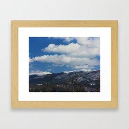 Holston Mountain Snowcaps Framed Art Print