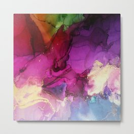 Pour your art out in hot pink Metal Print