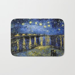 Vincent Van Gogh Starry Night Bath Mat