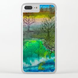 A Walk with Trees Clear iPhone Case