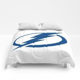 Tampa Bay Lightnin Logo Comforters