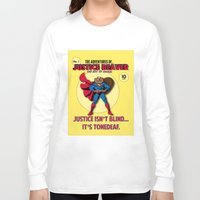 beaver Long Sleeve T-shirts featuring Justice Beaver by Alex Dutton