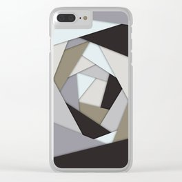 Rotating Geometric Layers Clear iPhone Case