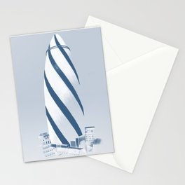 The Gherkin, Study for a Lino Cut Stationery Cards