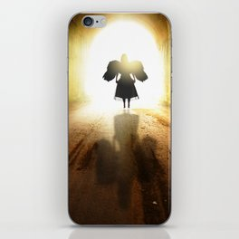 Angel In A Tunnel Of Light iPhone Skin