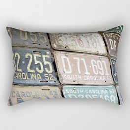 Old License Plates Rectangular Pillow