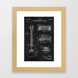 Gibson Les Paul Guitar Patent Framed Art Print