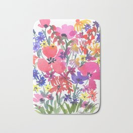 Little Pink Poppies Bath Mat