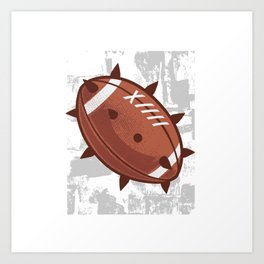 FOOTBALL SPIKES Art Print