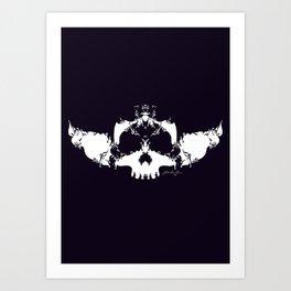 White Skull Art Print