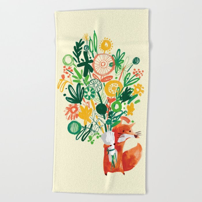 Flower Delivery Beach Towel