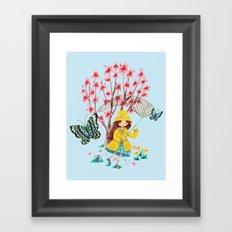 Butterfly Catcher Framed Art Print