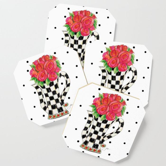 Teapot Roses Coaster