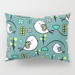 Cute birds and flowers Pillow Sham