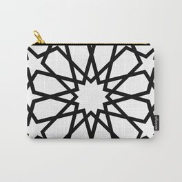 Islamic Geometric Line Art Carry-All Pouch