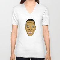 jay z V-neck T-shirts featuring Jay-Z by Λdd1x7
