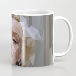 'Marilyn' Low Poly Triangle Artwork Coffee Mug