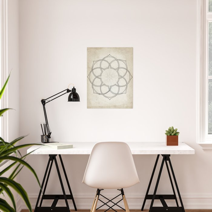 Geometry Sketch Eleven Poster By Junipersagemoon Society6