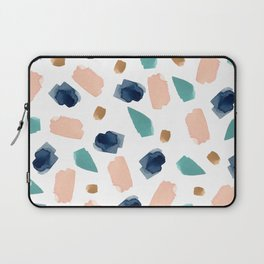 turquoise, navy, pink & gold Laptop Sleeve