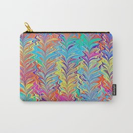 Rainbow Heartfall Water Marbling Carry-All Pouch