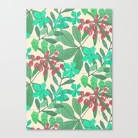 botanical Canvas Prints featuring Botanical by Louise Elizabeth