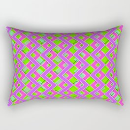 043 Abstract purple, pink and green art for home decoration Rectangular Pillow