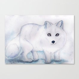 Snow Fox Canvas Print