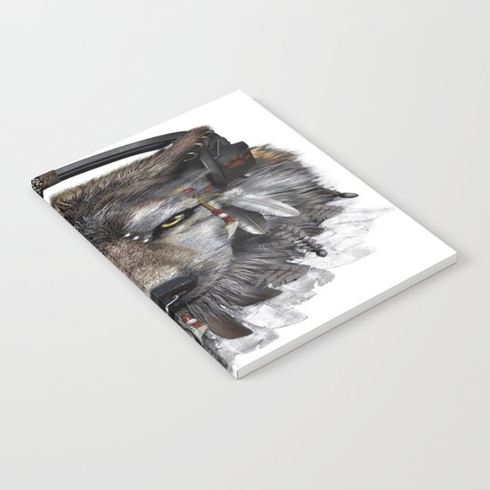 Wolf Pattern Notebook