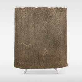 Rustic Tree Bark Pattern Shower Curtain