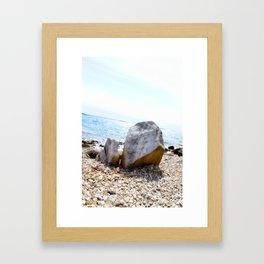 A Rock's Perspective Framed Art Print