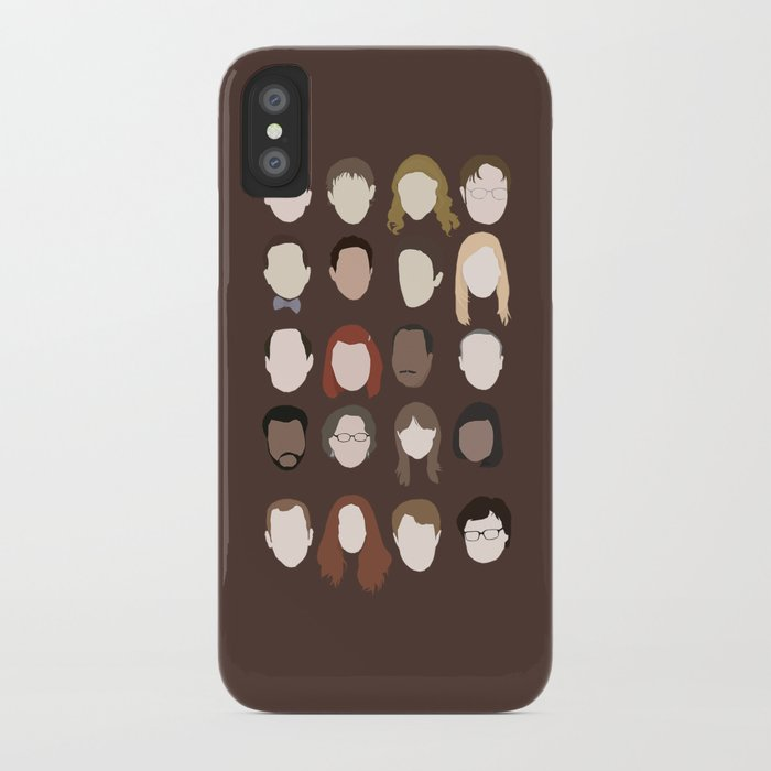 the office minimalist poster iphone case