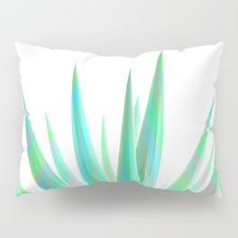 Tropical Allure - Green & Grey on White Pillow Sham
