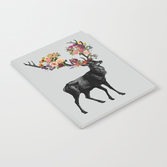 Spring Itself Deer Floral Notebook