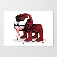 carnage Canvas Prints featuring CARNAGE ROBOTIC by We Are Robotic