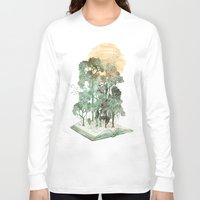 threadless Long Sleeve T-shirts featuring Jungle Book by David Fleck
