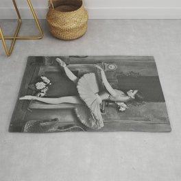 Prima Ballerina classical ballet portrait black and white photograph / black and white photography Rug