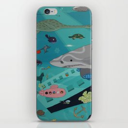 Aquarium (Shark Painting) iPhone Skin