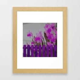 Forest flowers in my field  Purple roses  Open-air roses Framed Art Print