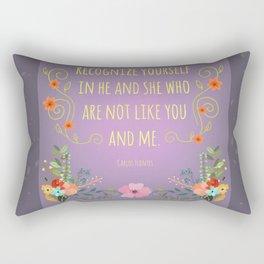 Recognize Yourself Rectangular Pillow