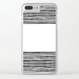 Weave pattern 1 Clear iPhone Case