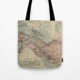 Map of Macedonion Empire Middle East Plan of Tyre from 332 BC Tote Bag