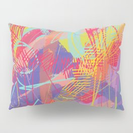 Rainbow abstract painting Pillow Sham