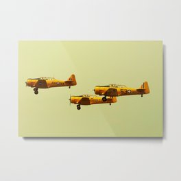 Harvard Airplanes Metal Print