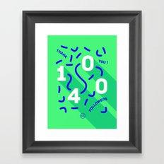 1400 Framed Art Print