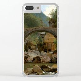 Théodore Rousseau Mountain Stream in the Auvergne Clear iPhone Case