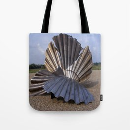 The Scallop sculpture by Maggi Hambling.  Tote Bag