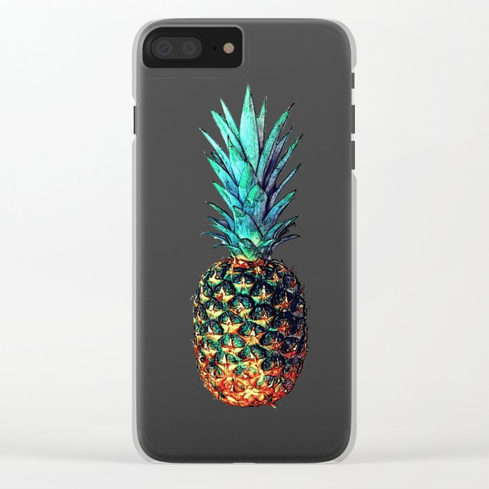 tri soldier pineapples Clear iPhone Case