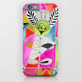 Tulips and Triangles iPhone Case