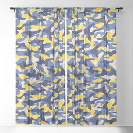 Summer Camouflage Sheer Curtain