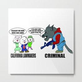 Wolf vs Sheep Metal Print